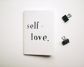 Zine: SELF-LOVE // poetry / prose / perzine // handmade zine / handwritten zine // journal excerpts