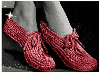 CROCHET SLIPPERS PATTERN Crochet Pattern Vintage 70s Crochet Yoga Shoes Crochet Booties Crochet Woman Slippers Pattern Girl Slippers Pattern