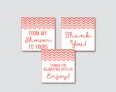Coral Chevron Printable F...