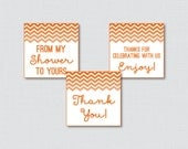 Orange Chevron Printable ...