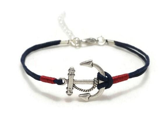 bracelet ancre nautique bracelet ancre ancre de bijoux. Black Bedroom Furniture Sets. Home Design Ideas