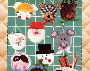 Christmas Ornaments Pattern, Patch Press, Pocket Ornaments, Pattern 369C