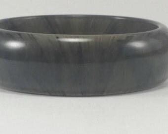 Vintage Marble Bangle Bracelet Grey