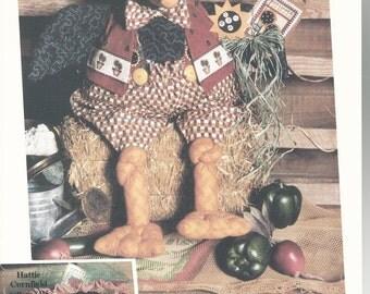 Vintage Boy Crow Doll Pattern Otis Cornfield Gardening Crow by Happy Hollow Designs 1994 new uncut