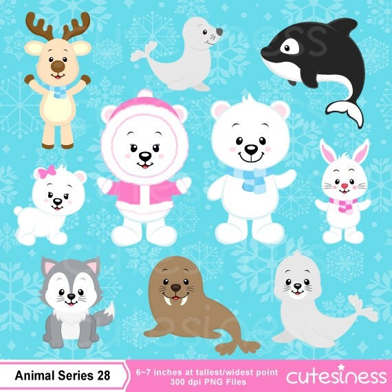 Polar bear Clipart Polar bear clipart Arctic animal clipart