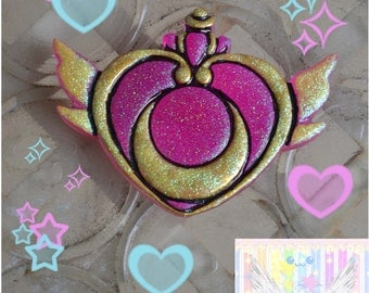Cute Large Sailor Moon Serena Cosplay Broach