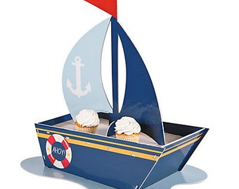 Nautical Cupcake Holder/Centerpiece/