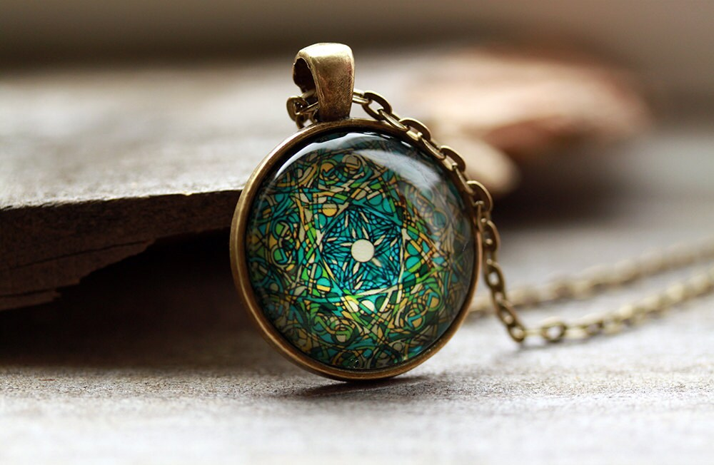 spiritual amulet religious jewelry sacred geometry necklace