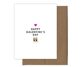 Happy Galentine's Day Emoji Card