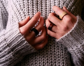 Wooden Ring - Johnny. Ash wood ring. Wooden jewelry. Minimal style ring.