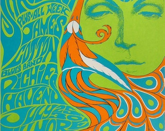 The Doors Yardbirds 1967 concert poster Fillmore SF 5th