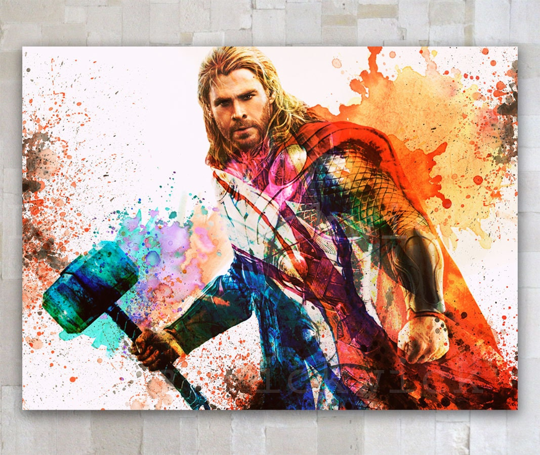 Thor Digital Download The Avengers Watercolor Poster By