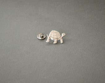 Tortoise Tie Tack Men's Tie Tack Tortoise Lapel Pin Turtle Lapel Pin Turtle Gifts Save the Turtles Gifts for Him Antique Silver Men's Gifts