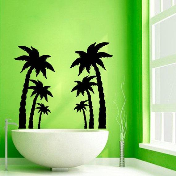palm tree wall decals beach trees bath palms vinyl sticker