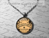 Ouija Board Pendant Oujia Necklace Oujia Game inspirational gift black magick Photo Pendant Wiccan jewelry Wicca necklace Pagan jewelry