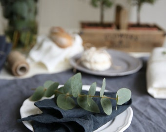 The Set Of 4 Washed Handmade Linen Napkins | Table Set | Table Decoration | Dining Decoration | Home Linens | Napkins |Tablecloth | Towels