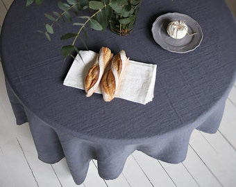 Handmade Linen Tablecloth | Soft Washed Linen Tablecloth | Home Decor | Table Set |Table Decoration | Kitchen Linens | Dining Decoration