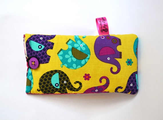 SALE Handmade Phone or specs case/sleeve/pouch, Samsung S4, iPhone 4s ...