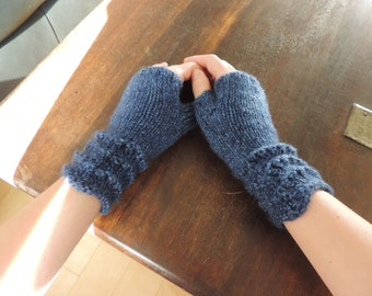 Hand Knit Wrist Warmers, Arm Warmers, Fingerless Mitts – SHORT (6.5in, 16.5cm) - Many Colours Available - Made to Order