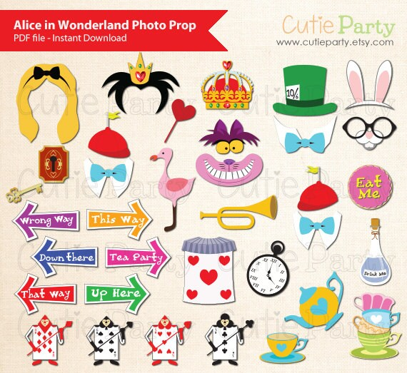 Molto Alice in Wonderland Photo Booth Prop Children Party Photo RK66