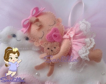 Stitchable baby asleep on a cloud