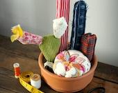 Cactus garden , recycled fabrics .