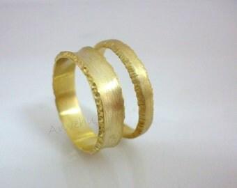 Couple wedding bands | Etsy