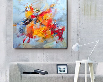 Large Abstract Painting, Abstract Painting Canvas Art, Canvas Art Acrilic Painting, Mixed Media Wall Art, Abstract Expressionist Paintting,