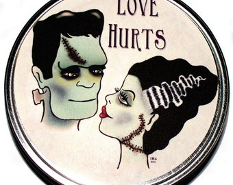 Bride of Frankenstein Vegan Soy Candle Tin