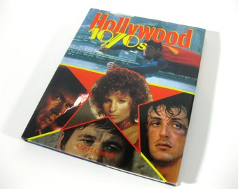 Vintage Hollywood 1970s Coffee Table Book ~ Hollywood Stars Hardcover Book