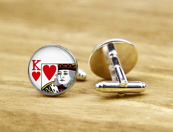 playing card cufflinks, poker cufflinks, custom poker card cufflinks, wedding cufflinks, round, square cufflinks, tie clip or a matching set