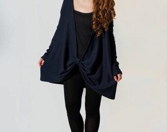 Sclupture Sweater, Cardigan,Blazer, Coat, Blue Knitwear, Sweater Jacket