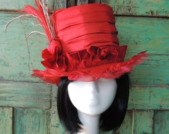 Party / Christmas Tophat Millinery - Custom made Ladie's Top Hat