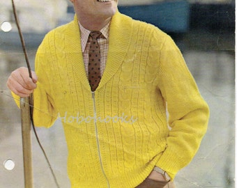 Knitting Pattern Zippered Cardigan : Popular items for zipper cardigan on Etsy