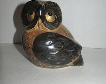 Vintage OMC Japan Ceramic Owl Figurine