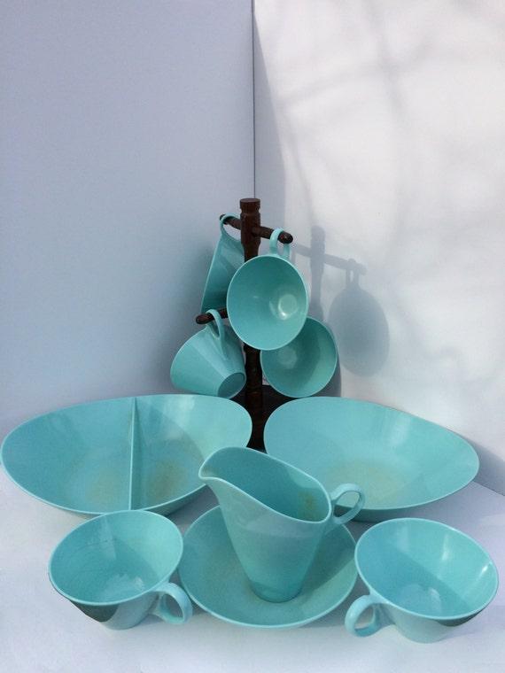 Vaisselle bleu turquoise