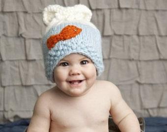 SALE Goldie Gold Fish Newborn Knit Baby Hat