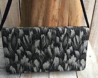 Unique Purses- black white purses - Fashion Handbags - Fashion Bag - Accordion purse - ladies purses -unusual purses - evening party purse