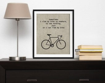 Bicycle Typography Wall Art , Inspirational Wall Art , Bicycle Art , Printable Art , Bicycle Printable , Bike Prints , Travel Print
