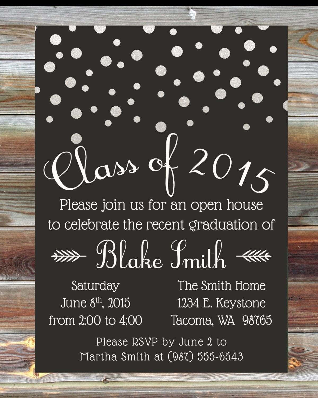 staples print u0026 marketing services custom color graduation open house invitation champagne grad - Staples Graduation Invitations