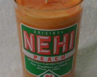 Nehi Peach Soda Peach-Scented Candle - Great Aroma!