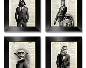 Star Wars Art Print Set, STAR WARS ART, Star Wars Print, Star Wars Wall Art Print, Star Wars Decor, Star Wars Wall Decor, Starwars Gift Man