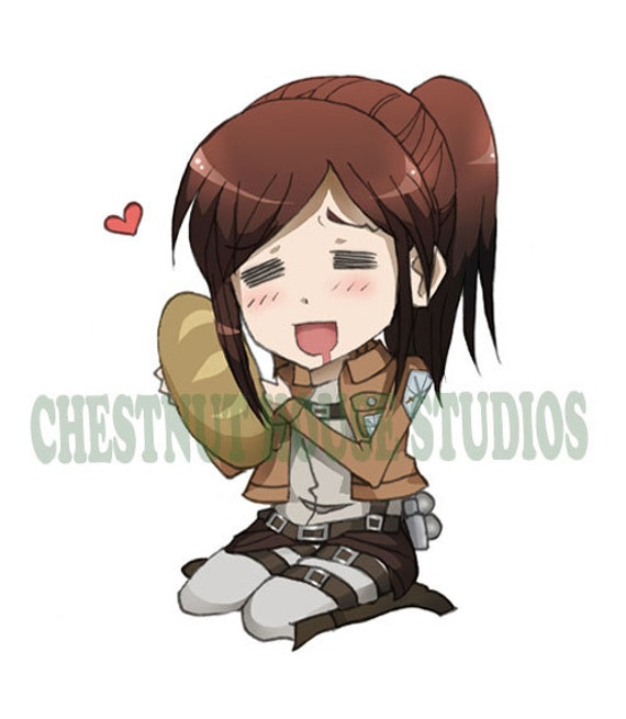 Potato Girl Attack On Titan Sticker By Chestnuthouse On Etsy