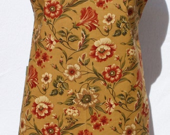 Chef Style Apron in Floral Print