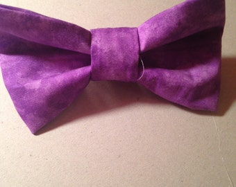 Purple Tie Dye Hair Bow with Attached Barrette!