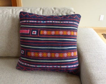 Vintage Hand Embroidered Pillow Cover #12