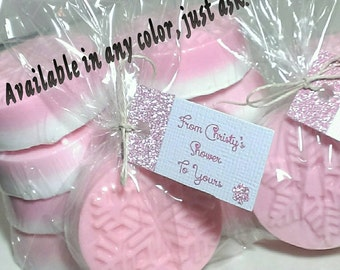 10 winter wedding, baby girl shower favors, snowflake party decorations, personalized party favors, , pink white birthday decorations
