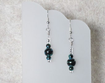 Blue and Green Swirl Earrings
