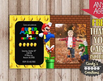 Super Mario Birthday Invitation - Printable Super Mario Invitation