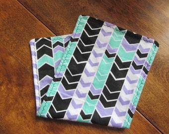 Set of (2) Flannel Burp Cloths